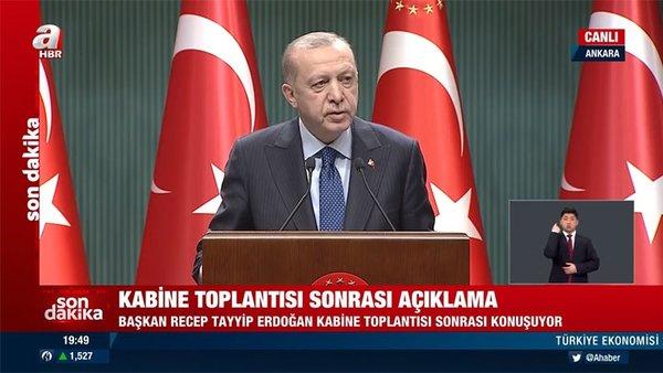 SON DAKİKA! Cumhurbaşkanı Erdoğan normalleşme süreci kararlarını canlı yayında açıkladı! | Video