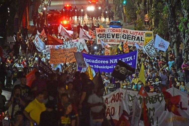 Brezilya'da kupa karşıtı gösteriler
