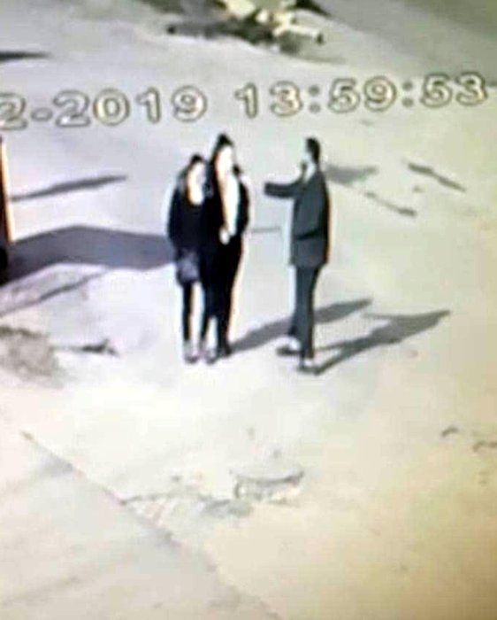 Edirne'de 2 kadının yüzüne yakıcı sıvı atan saldırgan güvenlik kameralarında