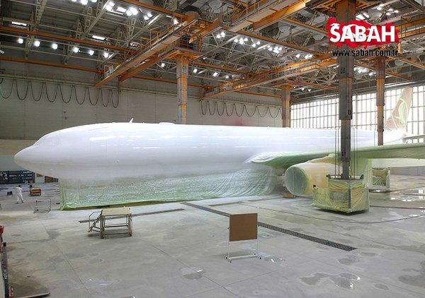 THY uçaklarının boyanma süreci... Bunları ilk defa göreceksiniz
