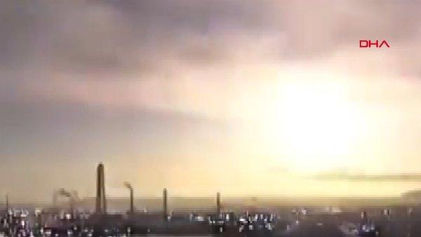 Japonya'da atmosfere giren göktaşı gökyüzünü aydınlattı   Video