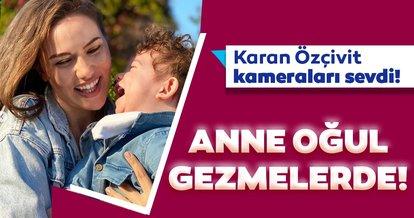 Güzel oyuncu Fahriye Evcen oğlu Karan ile gezmelerde! Kuruluş Osman'ın yıldızı Burak Özçivit ile Fahriye Evcen'in oğulları Karan Özçivit kameraları sevdi...