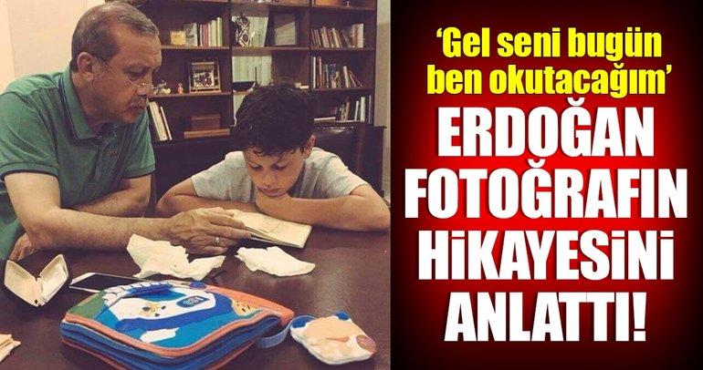 Cumhurbaşkanı Erdoğan o fotoğrafın hikayesini anlattı!