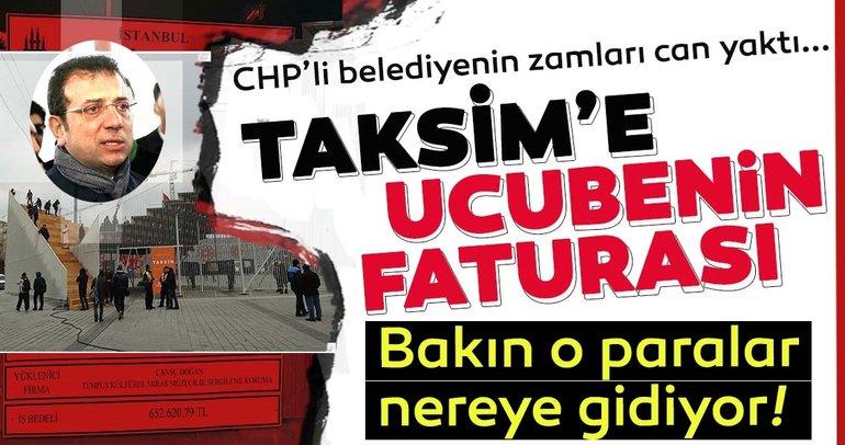 İBB'nin Taksim'e kurduğu geçici sergi platformu tepkilere neden oldu