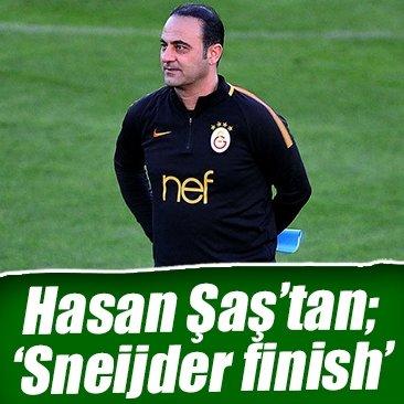 Hasan Şaş'tan 'Sneijder bitti' göndermesi!