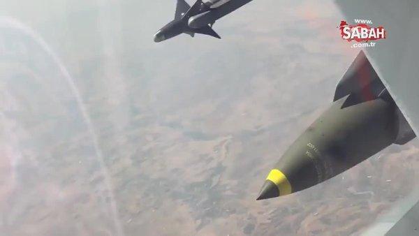 Milli Savunma Bakanlığı paylaştı: Türk F-16 uçakları Irak'ın kuzeyindeki terör yuvalarını böyle vurdu!   Video