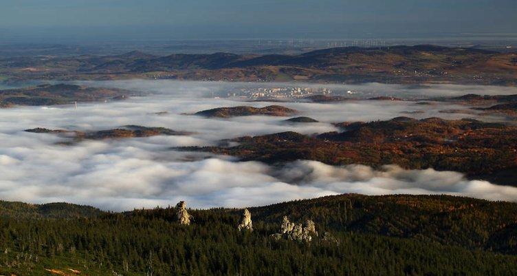 Polonya dağlarından muhteşem manzaralar