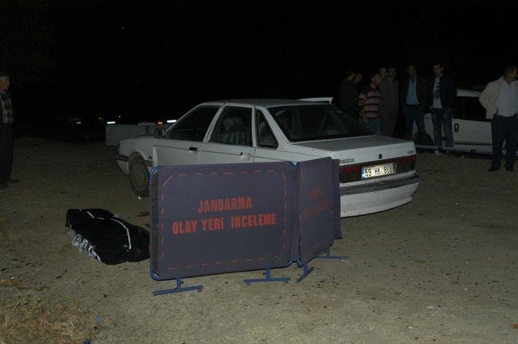 Otomobilin başında korkunç ölüm