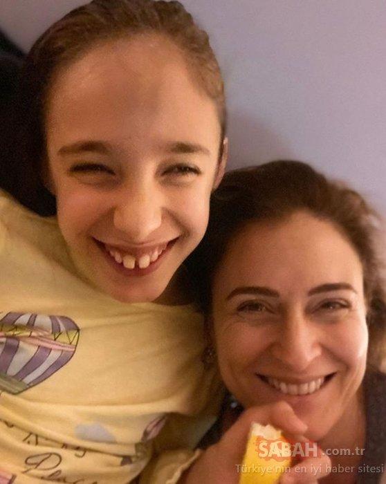 Ceyda Düvenci'den Serebral Palsi hastası kızı için duygusal kutlama... Güzel oyuncu Ceyda Düvenci'nin kızı Melisa 10 yaşında!