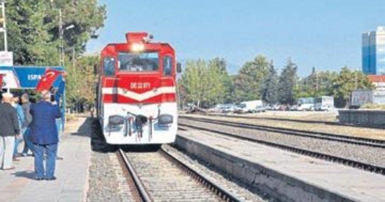 Sosyal Kooperatif treni Isparta'da