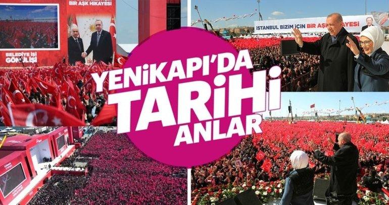 İstanbul Cumhur İttifakı mitingi için Yenikapı'ya akın etti