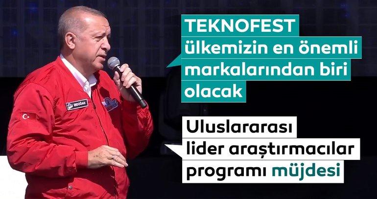 Başkan Erdoğan'dan TEKNOFEST'te önemli açıklamalar
