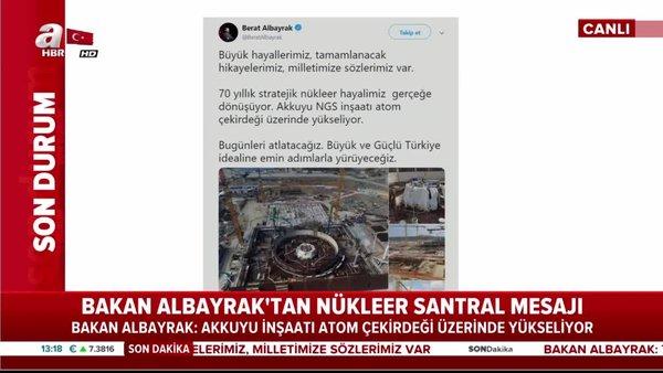 Hazine ve Maliye Bakanı Berat Albayrak'tan Akkuyu NGS açıklaması