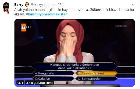 Kim Milyoner Olmak İster'de yarışan Ümmü Gülsüm Türkiye'yi duygulandırdı