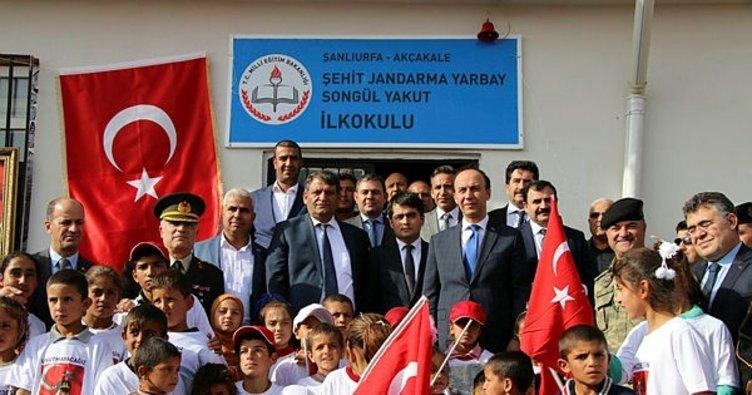 Akçakale'de Şehit Songül Yakut'un ismi verilen ilkokul açıldı