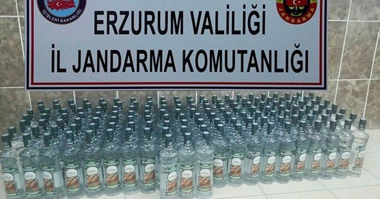 Erzurum'da kaçak alkol ile kaçak sigara ele geçirildi