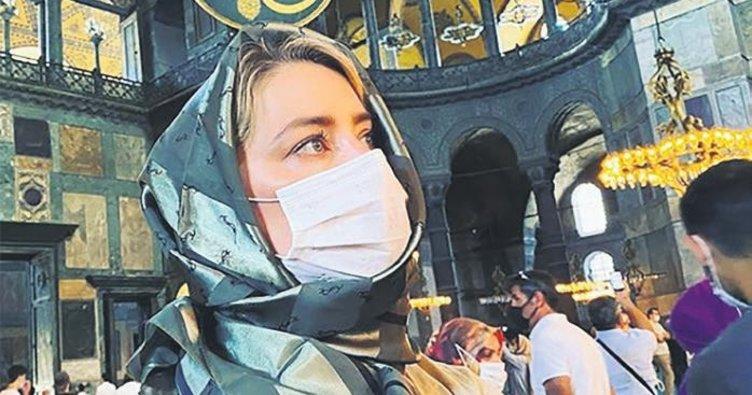 Dünyaca ünlü Hollywood yıldızı Amber Heard: Ayasofya büyüleyici bir yer