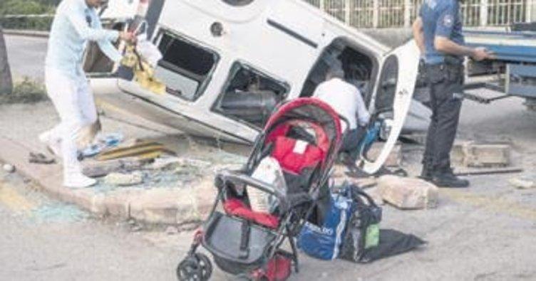 Başkentte trafik kazası: Biri bebek 8 yaralı