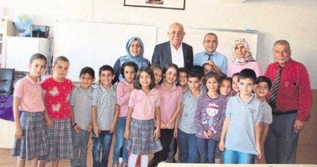 Başkan amcadan öğrencilere ziyaret