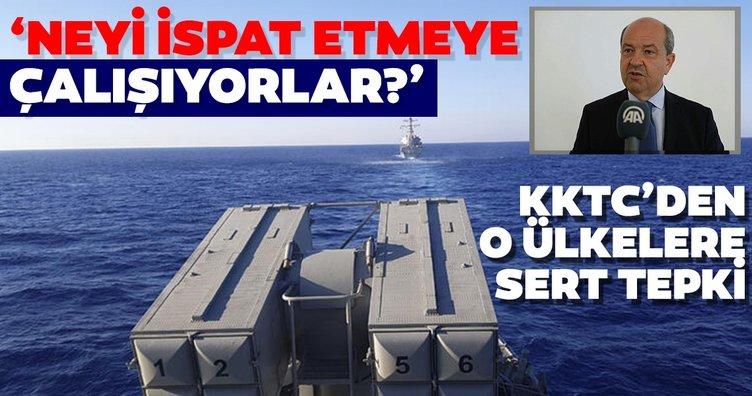 KKTC Başbakanı Tatar'dan Rum kesimi, Yunanistan, Fransa ve İtalya'ya sert tepki! Neyi ispat etmeye çalışıyorlar?