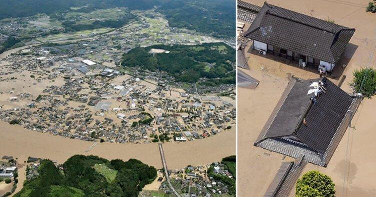 Japonya'nın güneybatısındaki taşkında ölenlerin sayısı 7'ye yükseldi