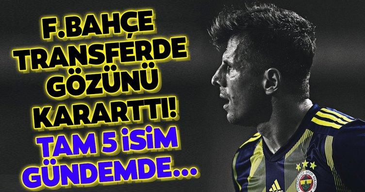 Fenerbahçe transferde hız kesmiyor! İşte listedeki 5 isim...