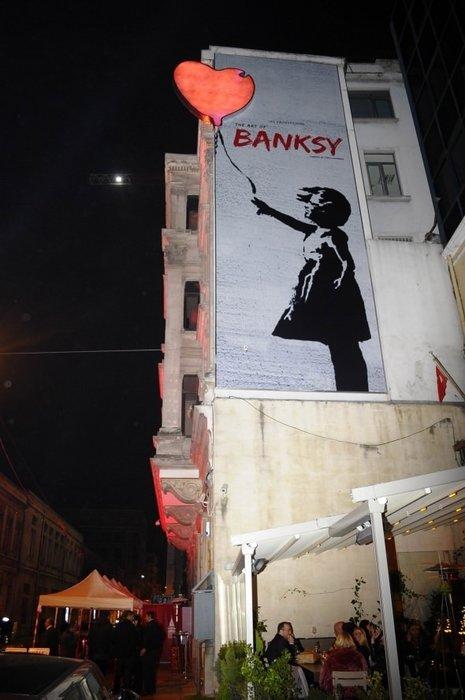 'The Art of Banksy' dünya prömiyeri İstanbul'da yapıldı