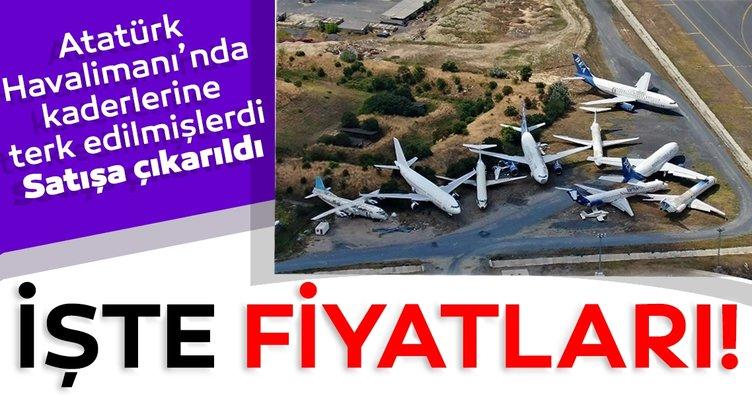 Terk edilen dokuz uçak satışa çıkıyor