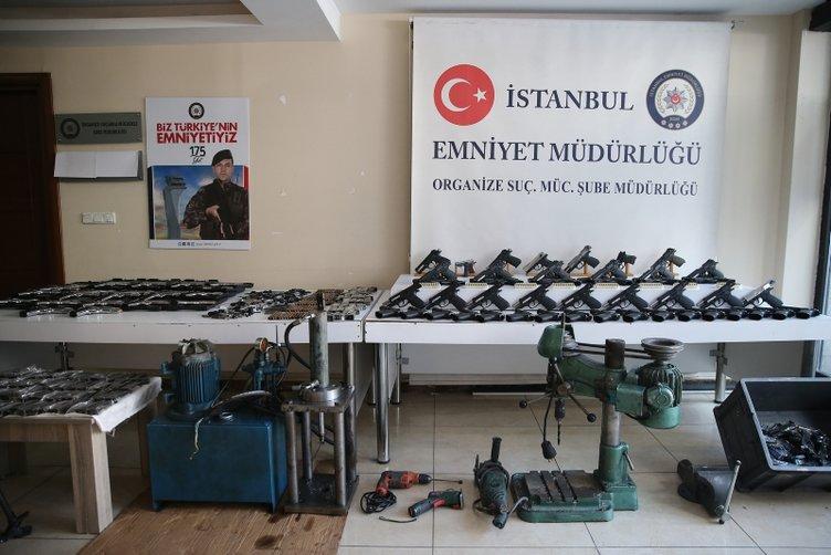 Sultangazi'de yasadışı silah imalathanesine operasyon kamerada