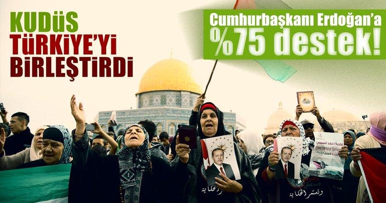 Cumhurbaşkanı Erdoğan'a %75 destek!