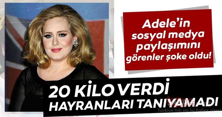 Adele'in sosyal medya paylaşımını görenler şoke oldu! 20 kilo verdi hayranları tanıyamadı