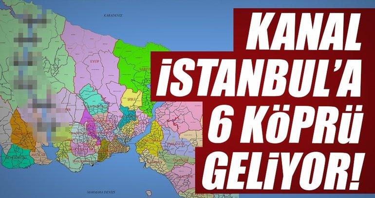 Kanal İstanbul ile 19 ilçe adalı olacak ve 6 köprü ile birbirine bağlanacak