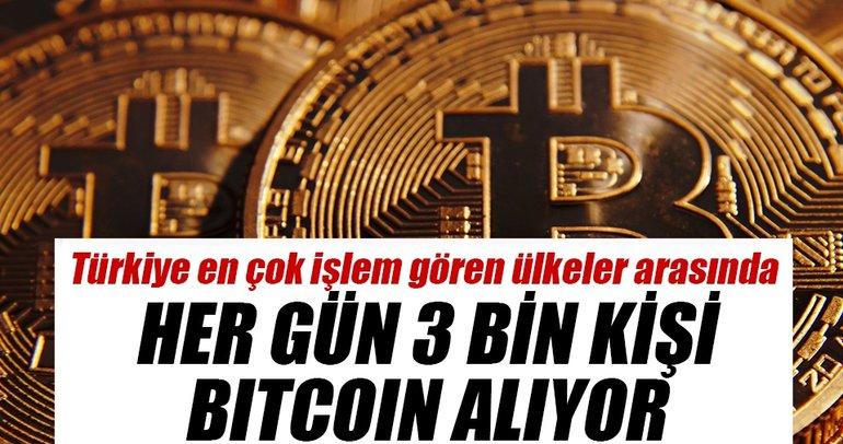 Her gün 3 bin kişi bitcoin alıyor