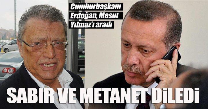 Cumhurbaşkanı Erdoğan, Mesut Yılmaz'a taziyelerini iletti