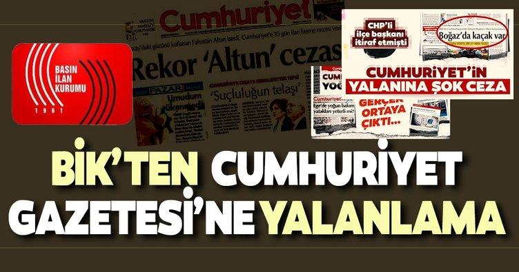 Basın İlan Kurumu'ndan Cumhuriyet Gazetesi'ne yalanlama!