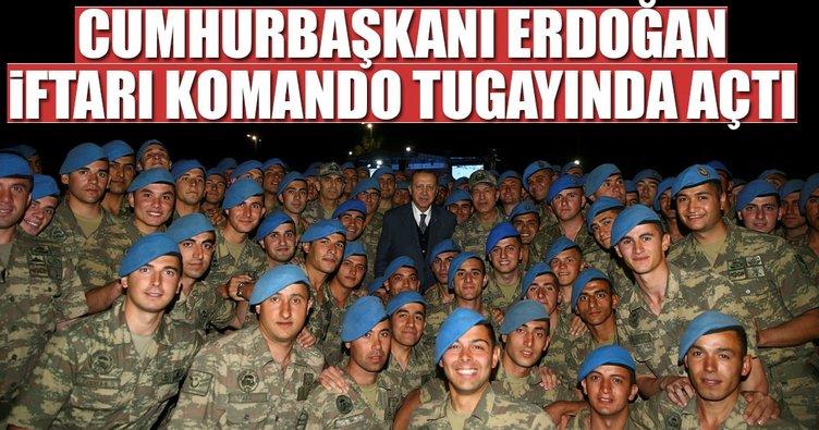 Cumhurbaşkanı Erdoğan Komando Tugayı'nda iftara katıldı