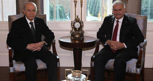 Başbakan Yıldırım, Bahçeli görüşmesi sona erdi