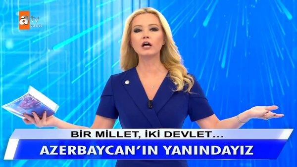 Son dakika haberi... Müge Anlı'dan canlı yayında Azerbaycan'a destek açıklaması! Azerbaycan'a yapılan saldırıyı...