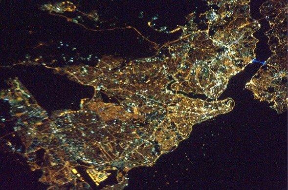Uzaydan Türkiye`yi çekti