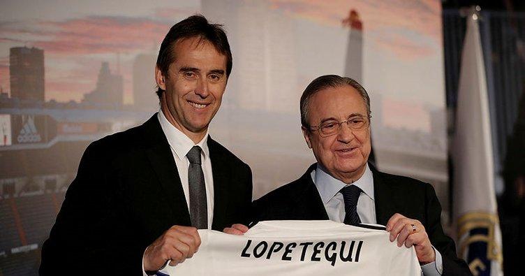Lopetegui'nin imza töreninde Florentino Perez'den İspanya Futbol Federasyonu'na tepki