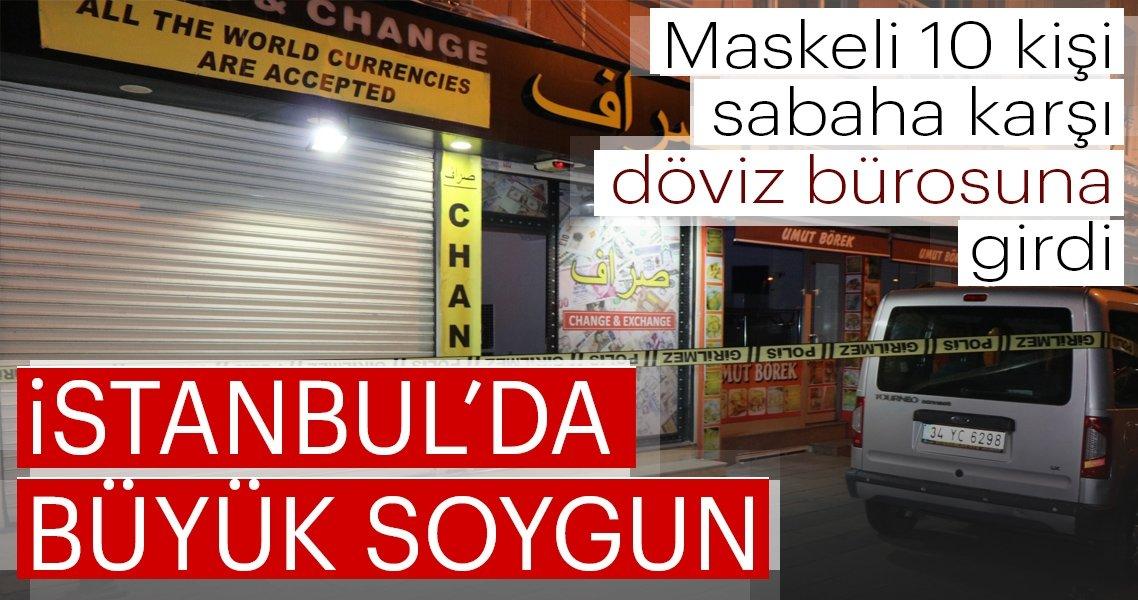 Son dakika: Fatih'te 150 bin dolarlık döviz bürosu soygunu