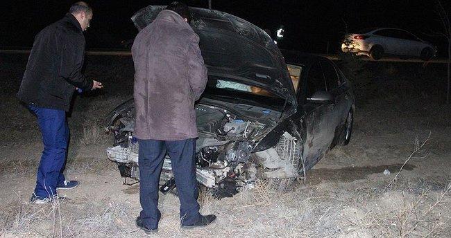 Aracı domuza çarpan Belediye Başkanı yaralandı!