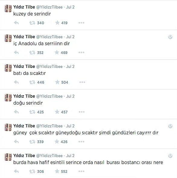Yıldız Tilbe'nin anlaması zor 35 tweeti