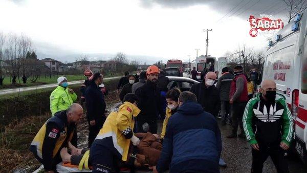 Sakarya'da feci kaza, ortalık savaş alanına döndü | Video