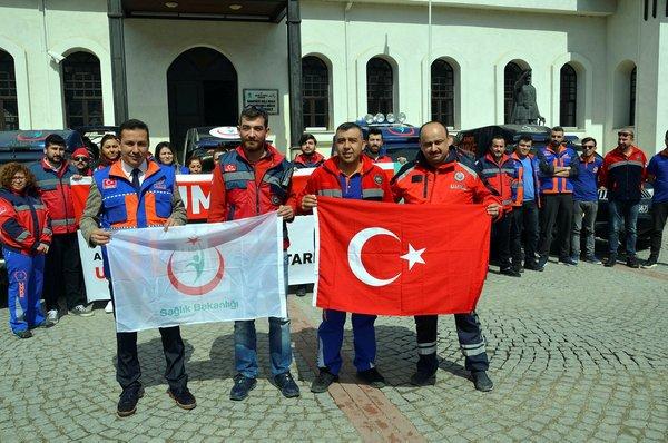 UMKE ekipleri Afrin'e uğurlandı