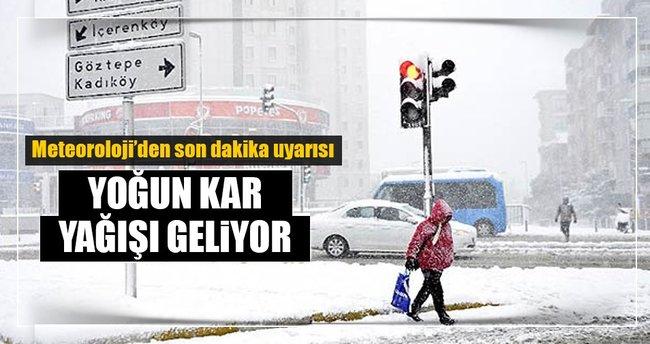 Meteoroloji'den son dakika açıklaması: İstanbul'a kar geliyor! ile ilgili görsel sonucu