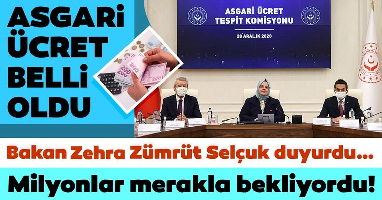 Asgari ücret zammı son dakika olarak açıklandı! 2021 Yeni Asgari ücret zammı miktarı ne kadar, kaç TL oldu?