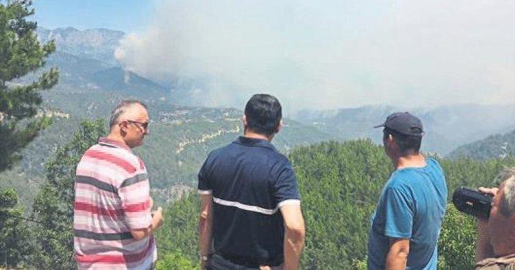 Anamur'daki orman yangını söndürüldü
