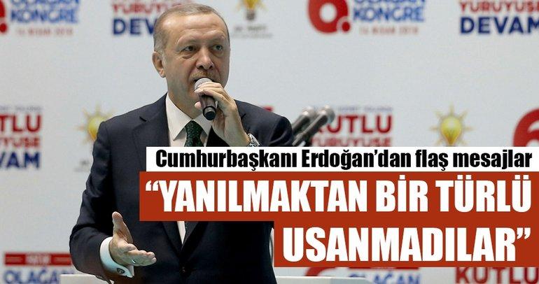 Cumhurbaşkanı Erdoğan: Yanılmaktan bir türlü usanmadılar