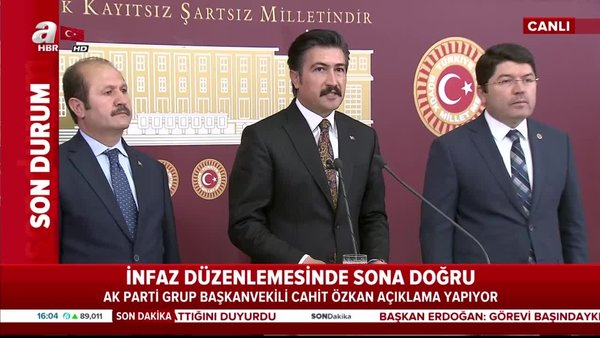 AK Parti'den ceza infaz yasasıaçıklaması! Ceza infaz düzenlemesi TBMM'ye sunuldu... | Video